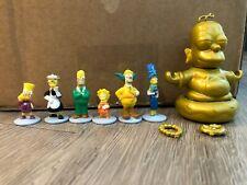 Kidrobot Gold Homer Simpson Buddha and Simpsons Clue Game Figures Lot