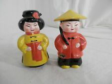 Josef Originals Japanese Ethic Couple Traditional Costume Salt & Pepper Shakers