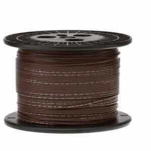 "16 AWG Gauge Stranded Hook Up Wire Brown 250 ft 0.0508"" PTFE 600 Volts"