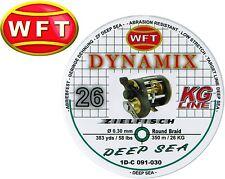 (0,07€/1m) WFT Dynamix Round Deep Sea grün 350m 0,30mm 26kg geflochtene Schnur
