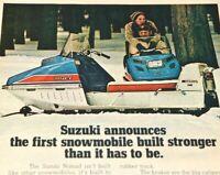 Suzuki 1970 Snowmobile Vintage Print Ad Nomad SM10 SM10-D Winter Sports Snow