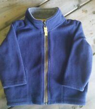 Carters boys fleece jacket 12months blue yellow full zipper infant toddler coat