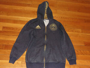 ADIDAS PHILADELPHIA UNION HOODED SWEATSHIRT JACKET BOYS XL EXCELLENT COND.