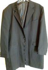 "Den Zel-Mens Zoot Suit Jacket-Costume Oversized Coat, Black Stripes, 42"" Length"