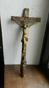 Antike Holzgeschnitzter Heiligenfigur Corpus Christi Maria Magdalena Volkskunst