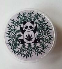 plastic herb grinder Magnetic Sharktooth 3 Part panda design