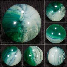 Akro Agate Green/Blue POPEYE PATCH Vintage Marble 5/8 Mint- hawkeyespicks