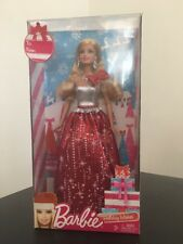 Mattel Barbie Doll 2013 Holiday Wishes Red Silver Gown New BBV50 Great Gift!