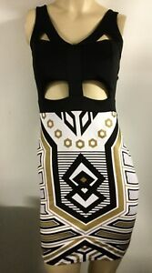 Egyptian Costume Cut Out Stretch Mini Club Party Dress New Size M
