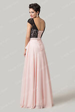 PLUS SIZE Lace Maxi Long Bridesmaid Wedding Gowns Ball Party Evening Prom Dress