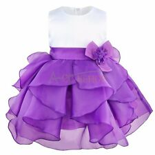 Flower Baby Girl Fancy Sleeveless Wedding Formal Bridesmaid Party Princess Dress