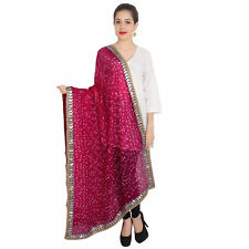 Dupatta Traditional indian scarves long stole shawl chunni scarf Maroon