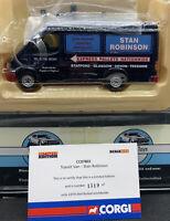 CORGI CC07802 TRANSIT VAN STAN ROBINSON, 1:43   BNIB with certificate & mirrors