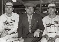 Dizzy Dean Babe Ruth PHOTO New York Yankees St Louis Cardinals Paul Dean 1936