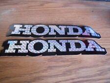 "Quantity 2 NOS Vintage Honda Decal Sticker 8.75"" Black Reflective CT70 CB750"