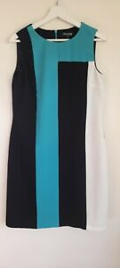 Debenhams Ladies Business Style Sleveless Dress Size 12 Fully Lined As New