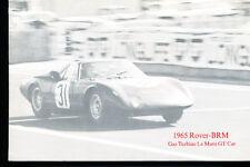 1965 Rover BRM Rover-BRM LeMans Sales Brochure Turbine