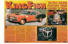 1971 PLYMOUTH HEMI CUDA 4-SPEED  ~  NICE 4-PAGE MUSCLE CAR ARTICLE / AD