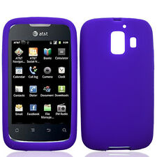 For Huawei AT&T Fusion 2 Rubber SILICONE Soft Gel Skin Case Cover Dark Purple