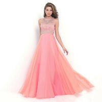 Womens Long Maxi Formal Wedding Evening Ball Gown Party Prom Bridesmaid Dress
