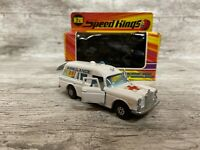 MATCHBOX SPEEDKINGS K26 'MERCEDES BINZ AMBULANCE WITH ORIGINAL BOX