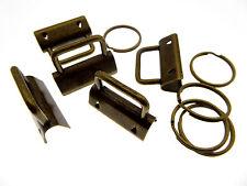 33 Stk. Schlüsselband Rohlinge 30mm mit Schlüsselringen bronzefarben