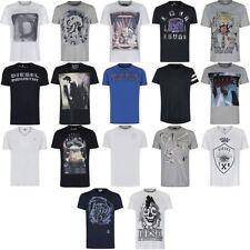 Diesel V Neck Patternless Basic T-Shirts for Men