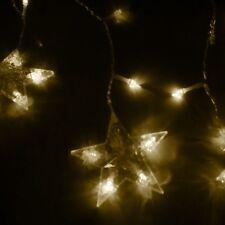 2M110 LED Star Curtain String Lights Lamp Party Festival Xmas Decor Warm White