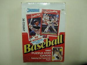 1990 Donruss Factory Box Baseball Puzzle Cards Carl Yastrzemski Puzzle