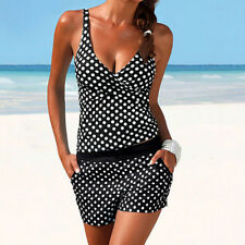Women Tankini Swimsuit Bikini Beachwear Bathingsuit Padded Push Up Swimwear CA