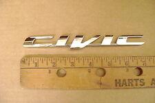 """CIVIC chrome plastic emblem sticker honda le se 7 1/8"""" has big flat V"""