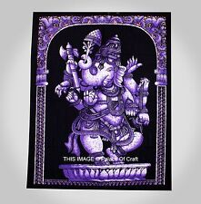 Lord Ganesh Hippie Tapestry Ethnic Indian Wall Hanging Table Cover Beach Throw