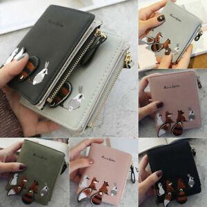 Womens Cartoon Animal Printed Purse Handbag Short Small Wallet Coin Card Holder