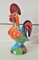 "Mexico Chicken Rooster Figurine Statue Colorful 5.5"" Tall"