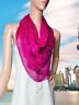 Giorgio Armani Shocking Pink Silk Art Scarf 32-in Sq Italy - New Silk Blend