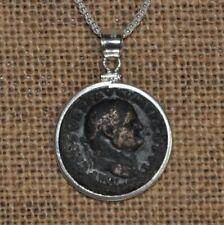 Vespasian Roman Emperor Authentic Coin 925 Solid Sterling Silver Pendant & Chain