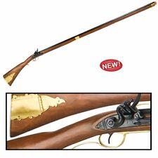 Authentic Replica Colonial Kentucky Flintlock Rifle Long Version Non Firing Gun