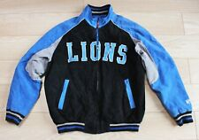 NFL Vtg Beverly Hills Cop Detroit Lion Sports Letterman Suede Leather Jacket XL