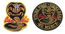 Karate Kid Cobra Kai Dojo Embroidered Movie Set of 2 Patches