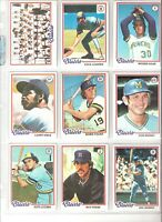 1978 TOPPS MILWAUKEE BREWERS TEAM SET-27, VG-EX/MT, ROBIN YOUNT, CECIL COOPER