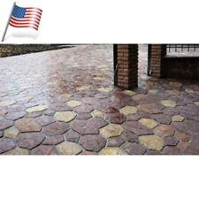 6 pcs Plastic MOLDS for Concrete Garden Stepping Stone Path Patio MOULDS CEMENT