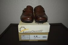 Women's size 8 M chestnut brown Earth Origins amore slide-on mules clogs shoes