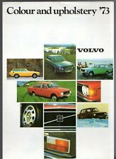 Volvo Colour & Trim 1972-73 UK Market Foldout Brochure 144 145 164 1800 ES