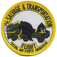 Aircraft Salvage and Transportation Flight Royal Air Force RAF Embroidered Patch