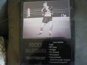 Rocky Marciano statistics plaque