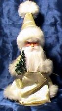 German Ino Schaller-White Fur W/Stars Santa Doll/Figurine Christmas Gift-Bavaria
