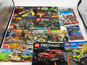 Lot (20) LEGO Star Wars Instruction Manuals ONLY