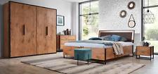 Komplettes Schlafzimmer Set Betten Kleiderschrank Bett Kommode Nachttisch Neu!