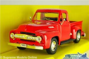 FORD F-100 MODEL PICK UP TRUCK 1953 RED AMERICAN USA 1:43 SCALE ROAD SIGNATURE K