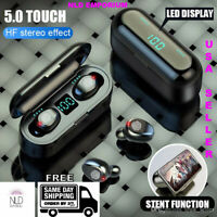Wireless Bluetooth Earbuds F9 TWS 5.0 Touch Control Stereo Earphones LED Display